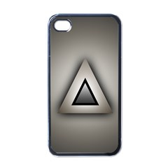 Metalic Triangle Apple iPhone 4 Case (Black)