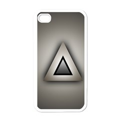 Metalic Triangle Apple iPhone 4 Case (White)
