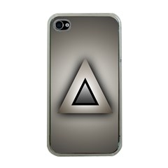 Metalic Triangle Apple Iphone 4 Case (clear)