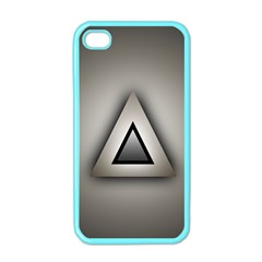 Metalic Triangle Apple iPhone 4 Case (Color)