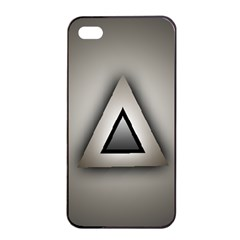 Metalic Triangle Apple iPhone 4/4s Seamless Case (Black)
