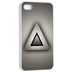 Metalic Triangle Apple Iphone 4/4s Seamless Case (white)