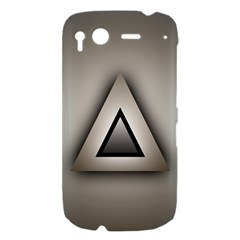 Metalic Triangle HTC Desire S Hardshell Case
