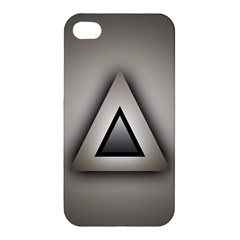 Metalic Triangle Apple Iphone 4/4s Premium Hardshell Case