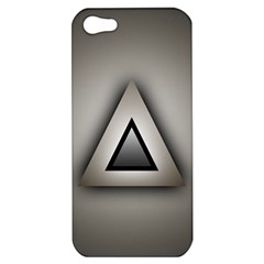 Metalic Triangle Apple Iphone 5 Hardshell Case
