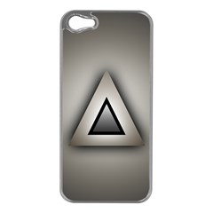 Metalic Triangle Apple iPhone 5 Case (Silver)