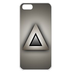 Metalic Triangle Apple Iphone 5 Seamless Case (white)