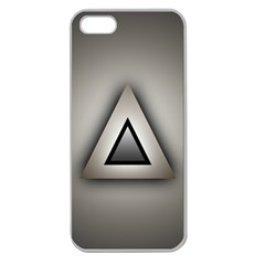 Metalic Triangle Apple Seamless iPhone 5 Case (Clear)