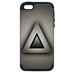 Metalic Triangle Apple iPhone 5 Hardshell Case (PC+Silicone)