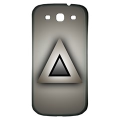Metalic Triangle Samsung Galaxy S3 S III Classic Hardshell Back Case
