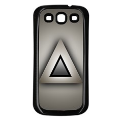 Metalic Triangle Samsung Galaxy S3 Back Case (Black)