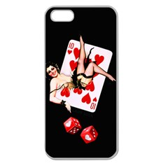 Lady Luck Apple Seamless Iphone 5 Case (clear)
