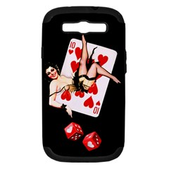 Lady Luck Samsung Galaxy S III Hardshell Case (PC+Silicone)