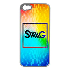 Swag (Color) Apple iPhone 5 Case (Silver)