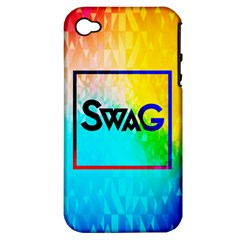 Swag (color) Apple Iphone 4/4s Hardshell Case (pc+silicone)
