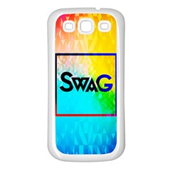Swag (color) Samsung Galaxy S3 Back Case (white)