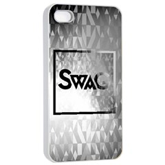 Swag (B&W) Apple iPhone 4/4s Seamless Case (White)