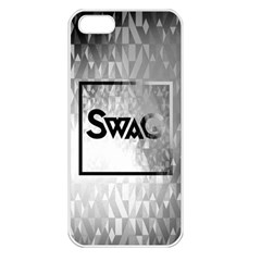 Swag (B&W) Apple iPhone 5 Seamless Case (White)