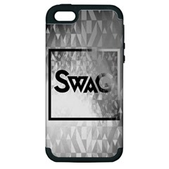 Swag (B&W) Apple iPhone 5 Hardshell Case (PC+Silicone)