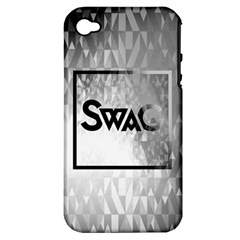 Swag (b&w) Apple Iphone 4/4s Hardshell Case (pc+silicone)