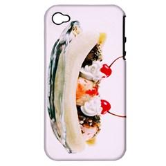 Banana Split Apple iPhone 4/4S Hardshell Case (PC+Silicone)