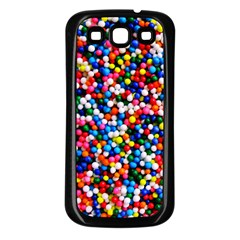 Sprinkles Samsung Galaxy S3 Back Case (Black)