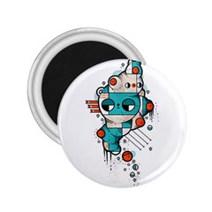 Muscle cat 2.25  Button Magnet