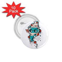 Muscle cat 1.75  Button (10 pack)