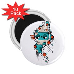 Muscle Cat 2 25  Button Magnet (10 Pack)