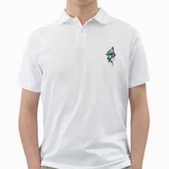 Muscle Cat Mens  Polo Shirt (white)