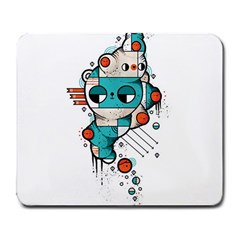 Muscle cat Large Mouse Pad (Rectangle)