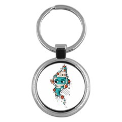 Muscle cat Key Chain (Round)