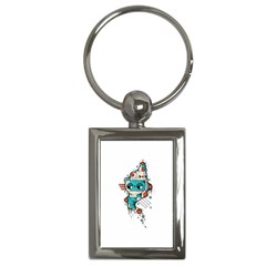 Muscle cat Key Chain (Rectangle)