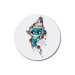 Muscle cat Drink Coaster (Round)