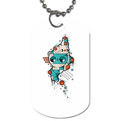 Muscle Cat Dog Tag (two Sided)