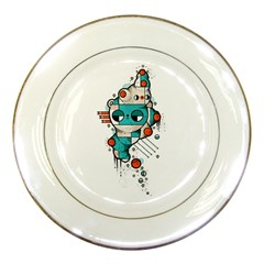 Muscle cat Porcelain Display Plate