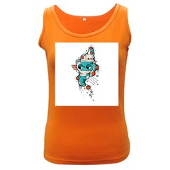 Muscle cat Womens  Tank Top (Dark Colored)