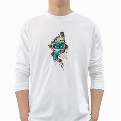 Muscle cat Mens' Long Sleeve T-shirt (White)