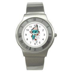 Muscle Cat Stainless Steel Watch (unisex)