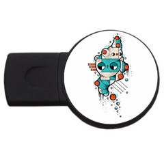 Muscle cat 4GB USB Flash Drive (Round)
