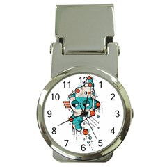 Muscle Cat Money Clip With Watch