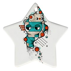 Muscle Cat Star Ornament (two Sides)
