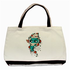 Muscle cat Twin-sided Black Tote Bag