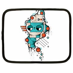 Muscle cat Netbook Sleeve (Large)