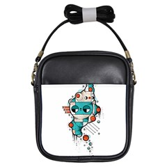 Muscle Cat Girl s Sling Bag