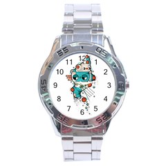 Muscle Cat Stainless Steel Watch (men s)