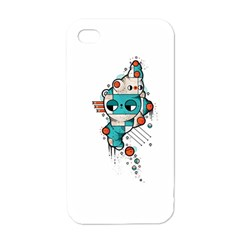 Muscle Cat Apple Iphone 4 Case (white)