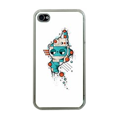 Muscle cat Apple iPhone 4 Case (Clear)