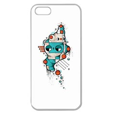 Muscle Cat Apple Seamless Iphone 5 Case (clear)