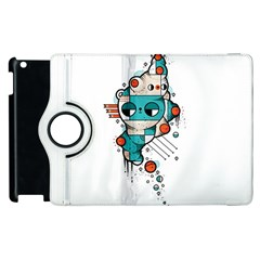 Muscle cat Apple iPad 3/4 Flip 360 Case